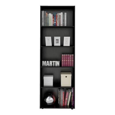 Librero estante molty negro 60x30x180 cm