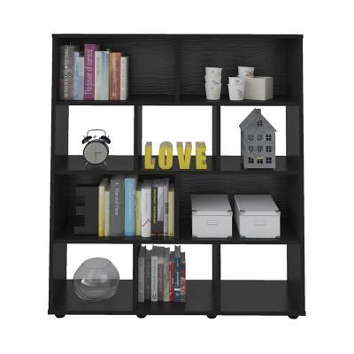 Librero estante booker negro 91x25x109 cm