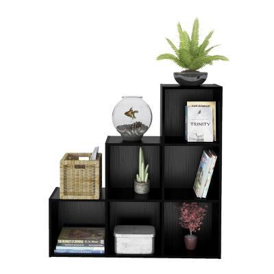 Librero estante greta negro 102,5x25x102,5 cm