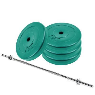 Pack pesas barra recta 1,5m + 20 kg discos