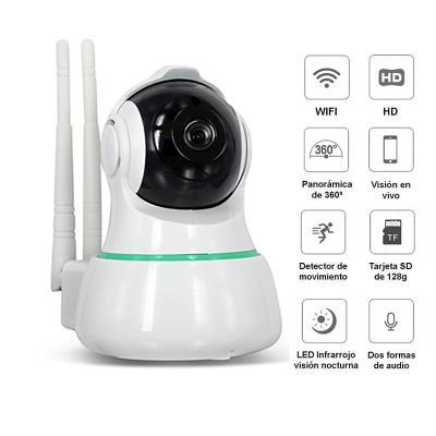 Camara seguridad ip wifi 360° inalambrica hd 1080p