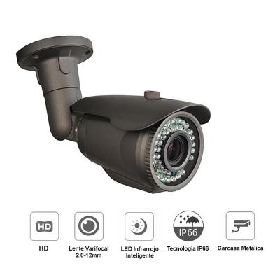 Camara seguridad exterior hd varifocal zoom 2mp
