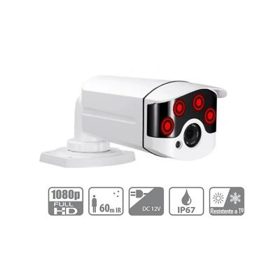 Camara seguridad exterior hd metalica 2mp ir 60mts