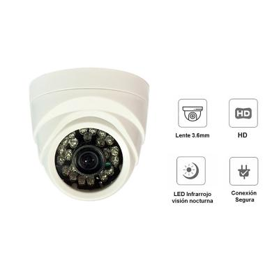 Camara de seguridad interior hd 1mp l/3.6 ir 20mts