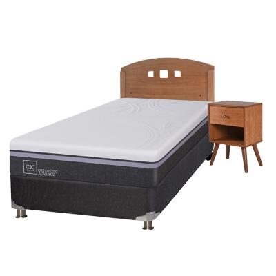 Box spring ortopedic advance b5 black 1.5 plazas + muebles