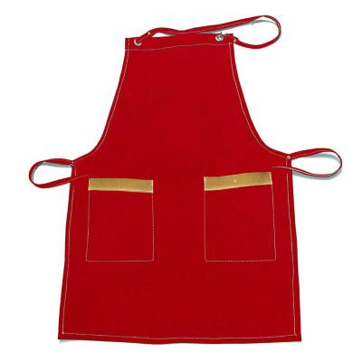 Pechera gabardina rojo 2 bolsillos