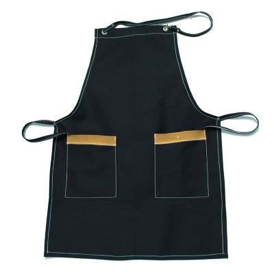 Pechera gabardina negro 2 bolsillos