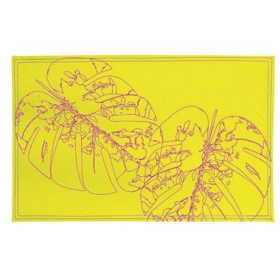 Individuales hojas magenta 4 unidades eco-cuero