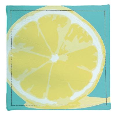 Posavasos limón 4 unidades ecocuero