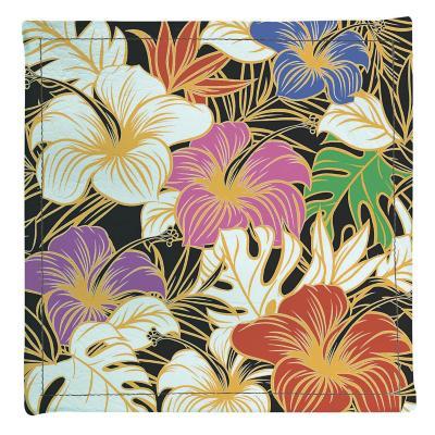 Posavasos flores colores 4 unidades ecocuero