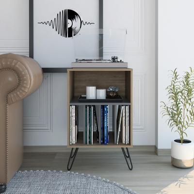 Mueble funcional 50x80x45 cm miel/plomo