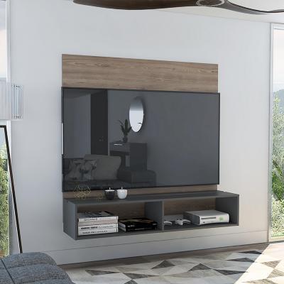 """Panel TV 60"""" 137x134x33 cm miel/plomo"""