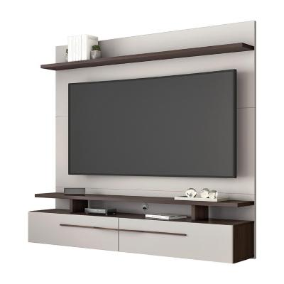 "Panel tv 60"" nogal blanco mdp 157x160x34 cm"