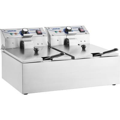Freidora eléctrica sobremesa 6 litros 2 deposito