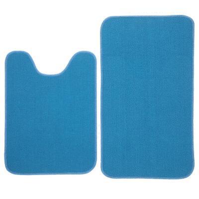 Set baño 2 piezas antideslizante azul