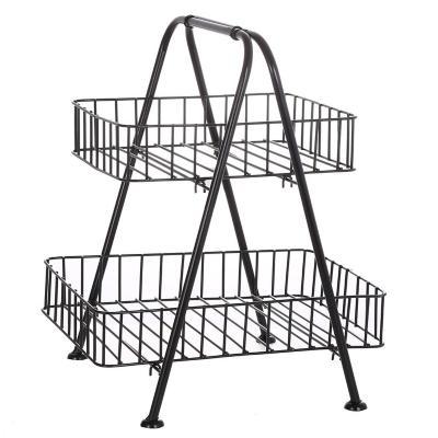 Organizador multiuso metal con canastos 2 niveles