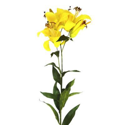 Vara artificial lily de 95 cm amarilla