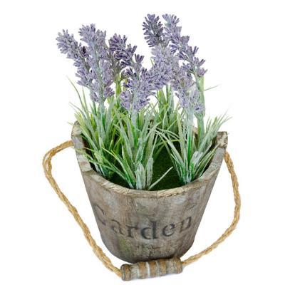 Arreglo planta artificial 13 cm lila