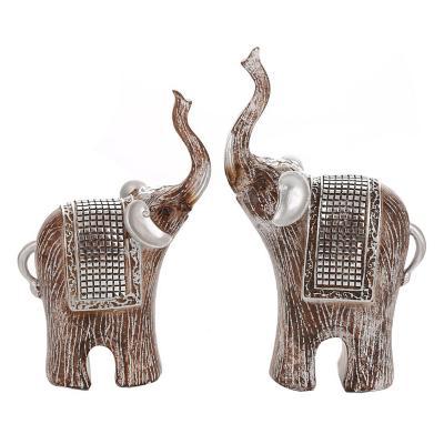 Set 2 elefantes de resina modelo luxor 27 y 23 cm