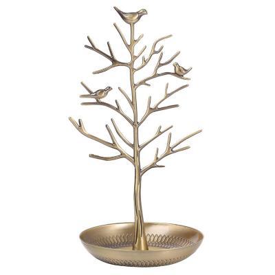 Figura decorativa de árbol metal 30 cm dorado