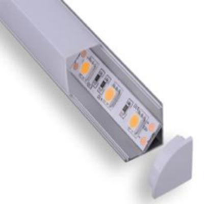 Perfil aluminio esquinero recto para cintas led 2 metros