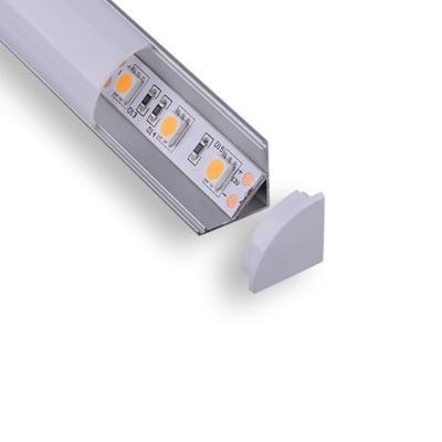 Perfil de aluminio  para cintas led  esquinero 2m
