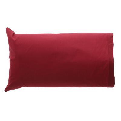 Set fundas de almohada Burdeo 144 hilos 50x70 cm