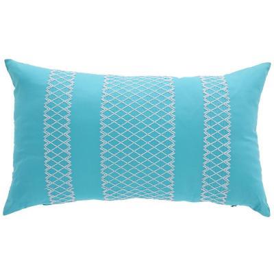 Cojín crochet Turquesa 30x50 cm