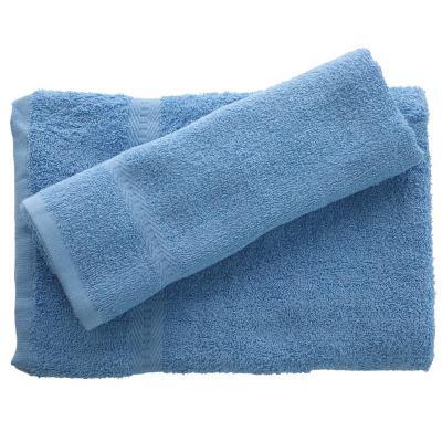 Juego de toalla baño y mano 380 gr 2 unidades Celeste