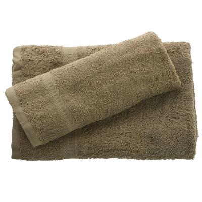 Juego de toalla baño y mano 380 gr 2 unidades Verde musgo