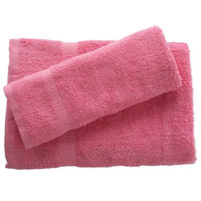 Juego de toalla baño y mano 380 gr 2 unidades Rosado