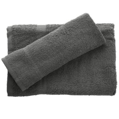 Juego de toalla baño y mano 380 gr 2 unidades Grafito