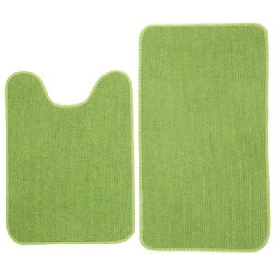 Set baño 2 piezas antideslizante verde