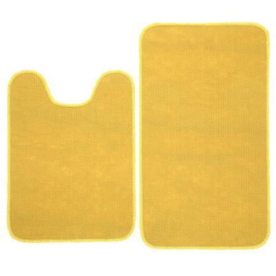 Set baño 2 piezas antideslizante amarrillo