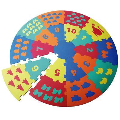 Alfombra goma eva puzzle 93 piezas circular multicolor