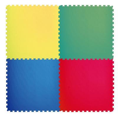 Alfombra goma eva 1 pieza 100x100 cm amarillo