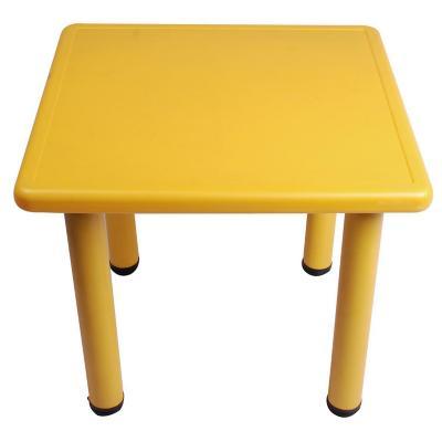 Mesa cuadrada infantil plástico 60x60x50 cm amarillo