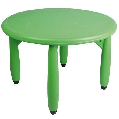 Mesa redonda infantil plástico 76,5x50 cm verde