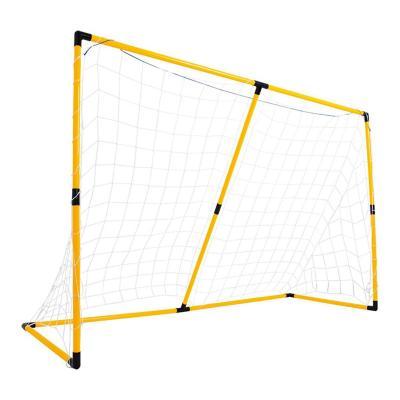 Arco de fútbol metálico malla 120x186x72 cm amarillo