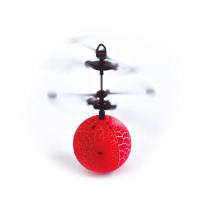 Pelota voladora USB con luces rojo