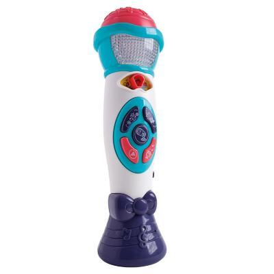 Micrófono con grabador efecto de sonidos y luces