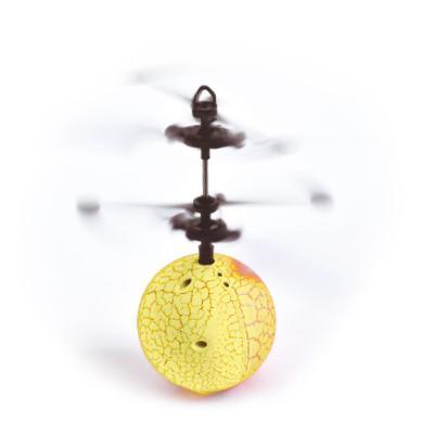 Pelota voladora USB con luces amarillo