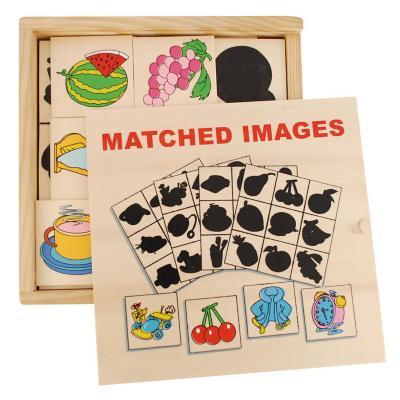 Lotería sombra madera 36 fichas + 4 tableros