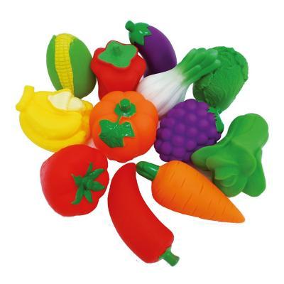 Set fruta y verdura plástico 12 piezas