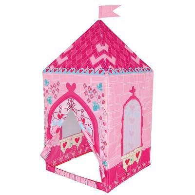Carpa castillo princesa 75x75x160 cm rosada