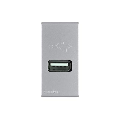 Cargador USB 1a 5v s44 plata