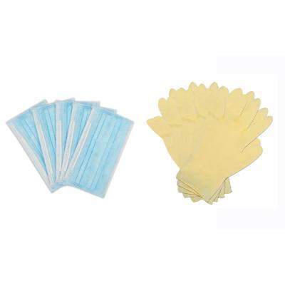Set de mascarilla y guantes