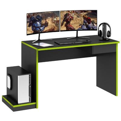 Escritorio Gamer 76x150x60 cm grafito/verde