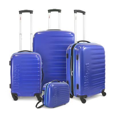 Set 3 maletas malaga 245 l azul hardside rígida