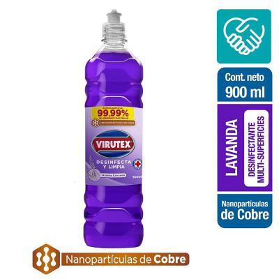 Limpiador desinfectante con nano partículas cobre lavanda 900 ml